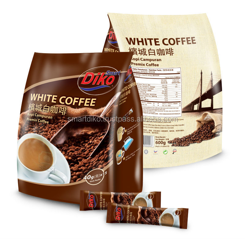Malaysia instant white coffee 3in1 600gm per pack