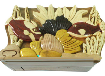 Wood Carved Jewelry Box Wooden Butterfly Puzzle Box Ms Iris