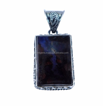 Indian work Natural Pietersite 925 Sterling Silver Customized Pendant