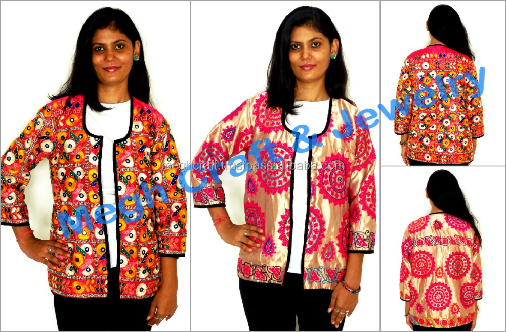 Indian Handmade Silk Embroidered Jackets-traditional Gujarati Embroidery  Jacket-embroidered Coats For Women-navratri Koti - Buy Ladies Embroidered  Coats ...