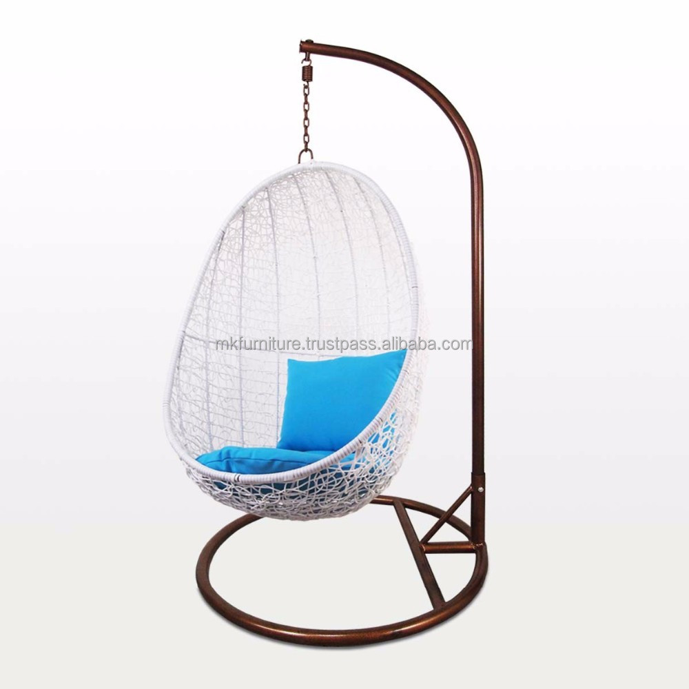 Wicker Rattan Swing Chair -hanging Chair Furniture Steel Frame With ...