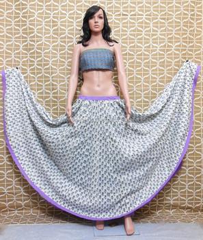 3ecffdd4a8ce78 Buy Beautiful Indian Kali Block Print Skirts/ Best Bollywood Lehengas Skirt