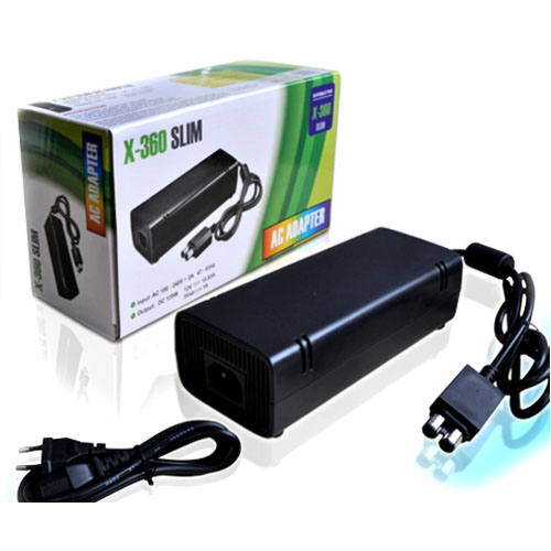 High Quality AC Adapter Charger For Microsoft XBOX 360 Slim Console