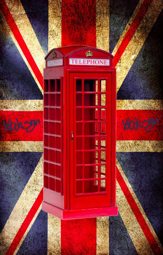 Inglese a grandezza naturale cabina telefonica retr in for Cabina telefonica inglese arredamento