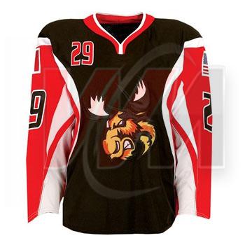 Ice Hockey Jersey Red black white ca2272ab855