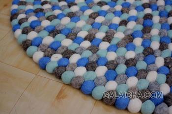 Felt Ball Rug Wool Pom Nursery