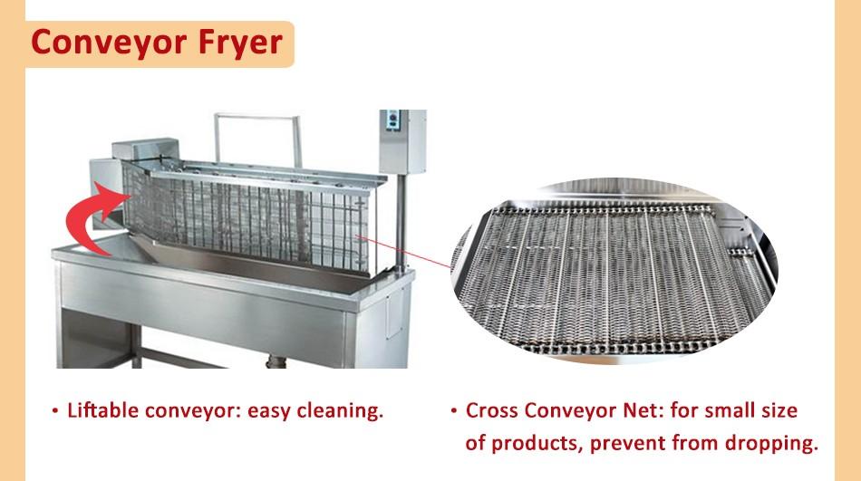 conveyor frying machine