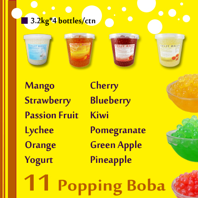 Peach popping boba