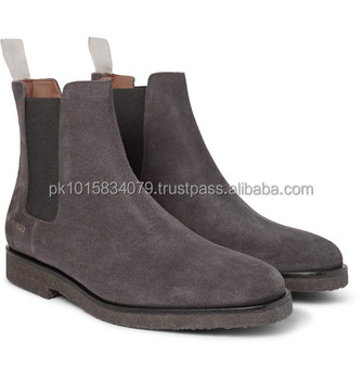 black suede ankle boots mens