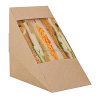 Disposable Triangle Sandwich Paper Packaging Box