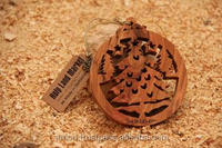 High Quality Exquisite Olive wood Christmas Tree Ornament
