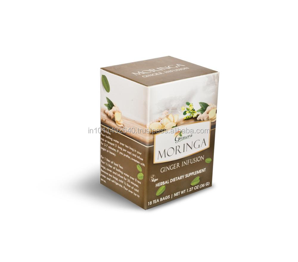 Organic Moringa Herbal Ginger Tea