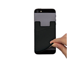 Protective Silicone Phone Smart Wallet / Silicone Card Holder for iPhone 6 6s 5 5s