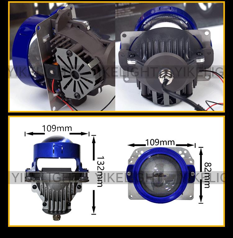 H7 Bi Xenon Led Projector Lens Sharp Beam Pattern Bi Led
