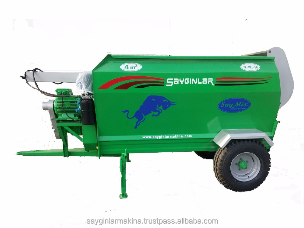 Stationary or Portable Feed Mixer 4m3 Both Electric and Tracor Pto Powered Feed Mixer Tmr