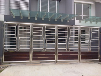 Stainless Steel Gate Buy Steel Gate Design Product On Alibabacom