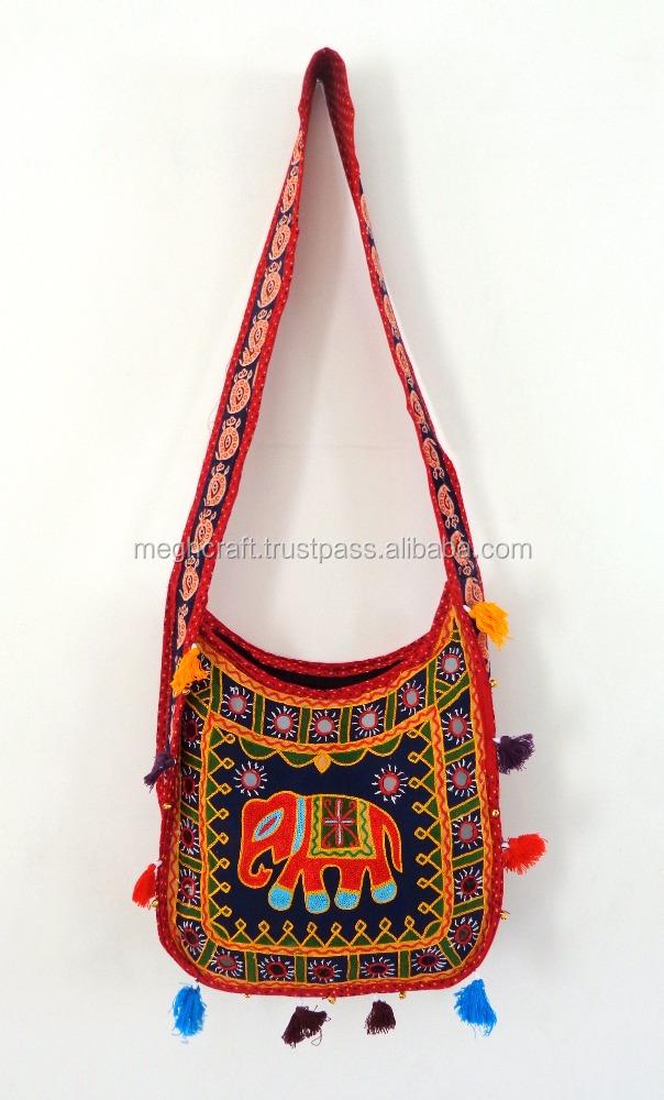 10 PC LOT Vintage Indian Embroidered Shoulder Bag Handbag Wedding Purse Handbag