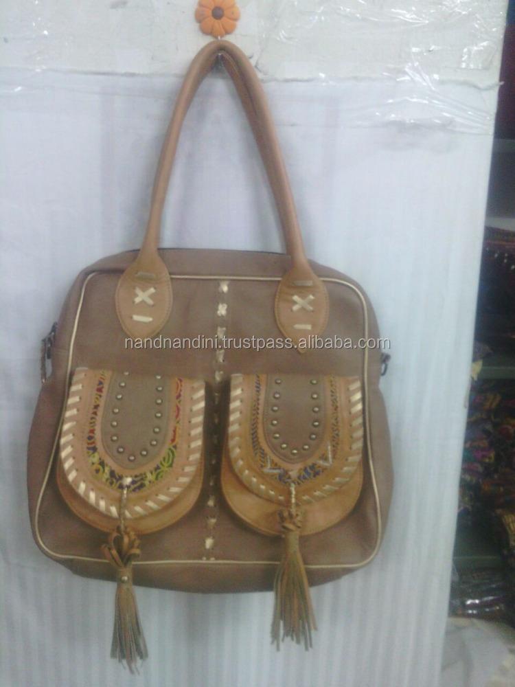 c361fe5a62 Indian Vintage Handmade Mirror Banjara Gyppy Leather Boho Hippie Shoulder  Bag - Buy Hippie Style Shoulder Bags