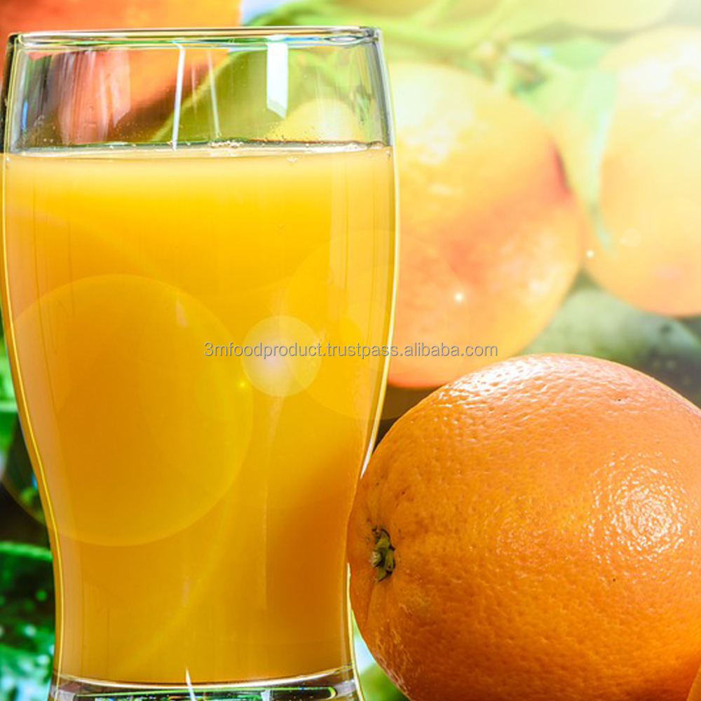 Halal Orange concentrate fruit juice 25% from thailand