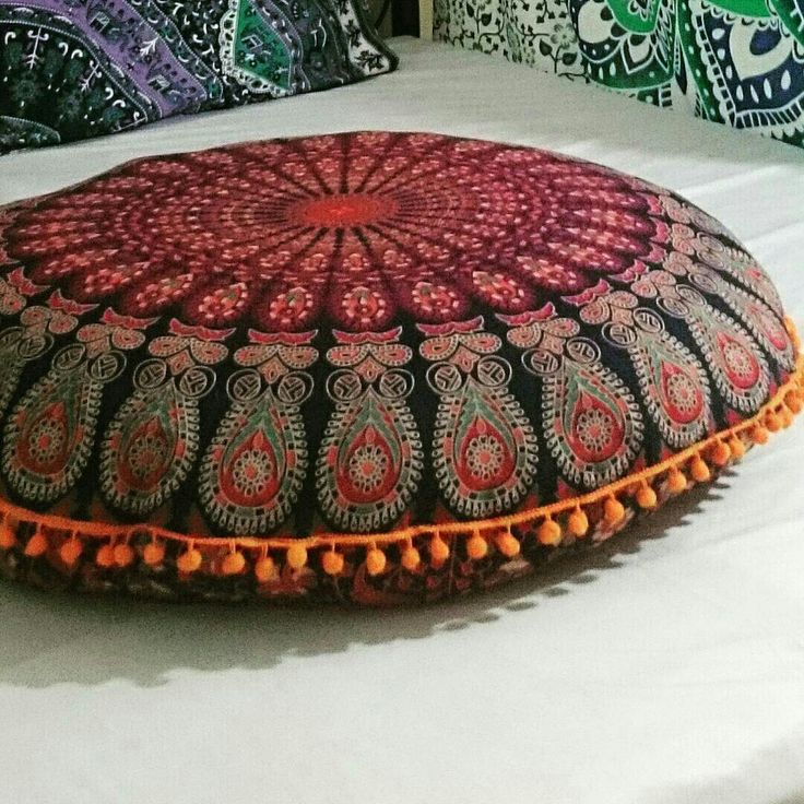 alibaba and suppliers floor indian large pillows showroom cushion com mandala round boho ombre manufacturers at