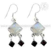 Amethyst, pearl natural gemstone 925 sterling silver earring wholesale silver jewellery fashion silver jewelry india