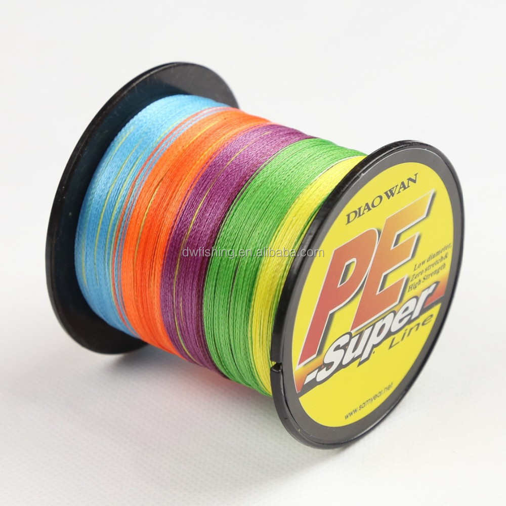 Diaowan 8 strands 100lb pe braided fishing line buy for Where to buy fishing line