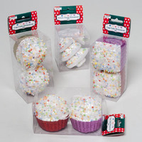 ORNAMENT 2PK CUPCAKE RND/SQUARE OR CANDY TREE 4AST PVC BOX/LABEL #G91531