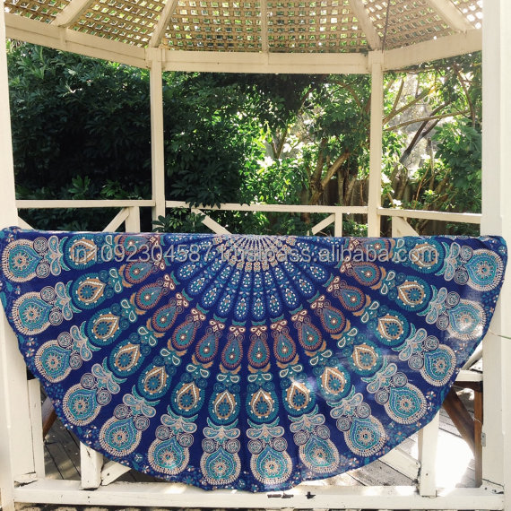 Indian Mandala Hippie Tapestries Round Ombre Dorm Tapestry Boho