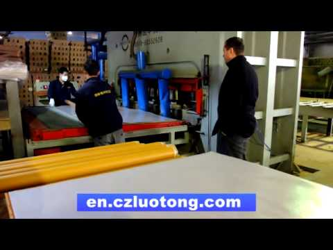 laminate flooring press machine /laminate flooring line