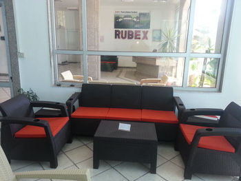 Outdoor Rattan Plastic Sofa Set