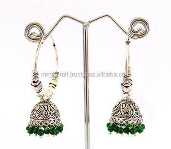 aa802b0e1 Oxidized Jewelry-Indian Ethnic Tribal Gypsy Oxidized Bali Earring-Wholesale  Oxidized Jhumka Earring