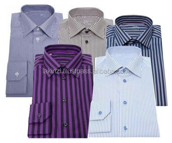 Office Striped Mens Formal Shirts