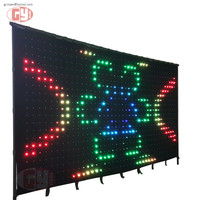 P10 High Pixel LED video curtain/ Wedding&Night Club Party Lighting DJ Stage Equipment System