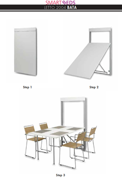 Bata Wall Folding Table By Smartbeds