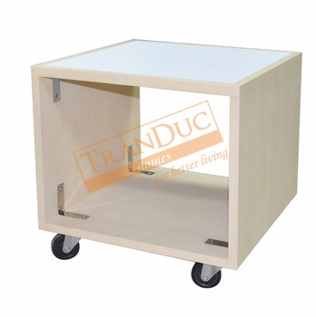 Hotel Side Table With Casters For Luxury Furniture