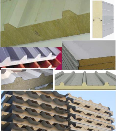Dubai Hi Rib Sandwich Panels For Roof Cladding Low Micro