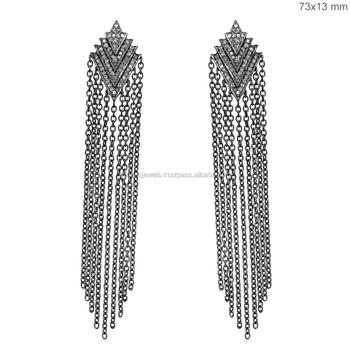 00dab30d11872b 925 Sterling Silver Chain Fashion Tassel Earrings - Buy 925 Sterling ...