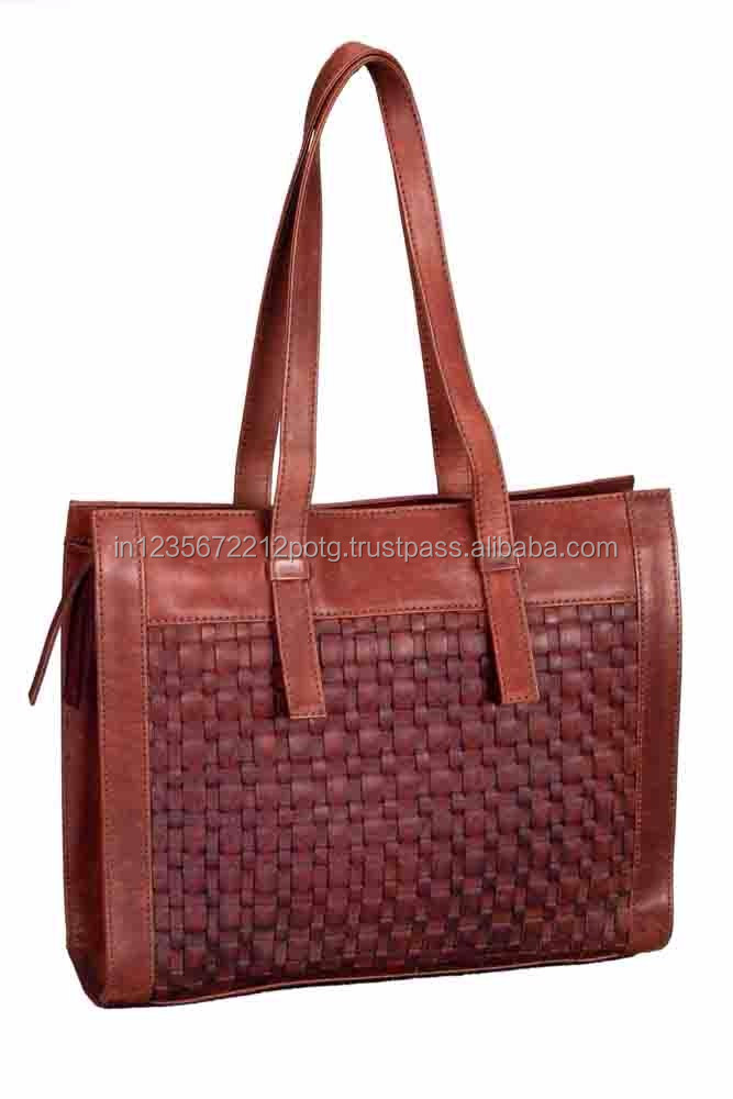 LADIES BAG 98% ECO LEATHER BROWN COLOUR - ( A Fair Trade Product )