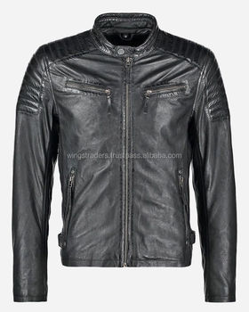 New European Stylewinter Slim Fit Leather Waxed Short Body Jackets