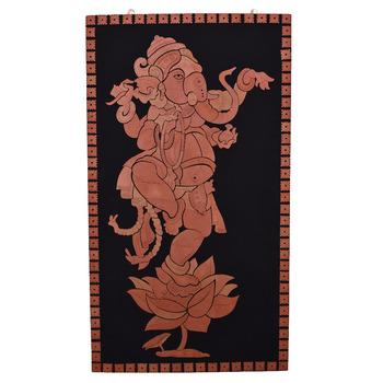 Terracotta Wall Art : Lord Ganesh 48\