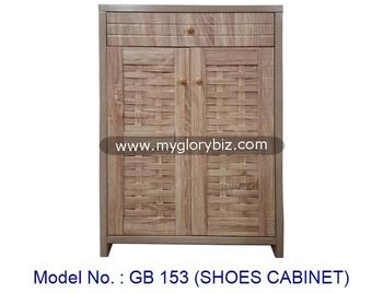 2 Doors Shoes Cabinet Wooden Rack With Drawer Living Room Storage Furniture