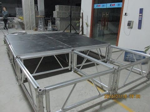 Moving stage folding stage portable stage aluminum stage