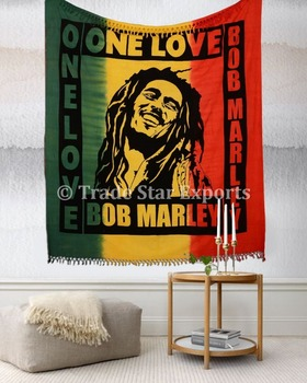couvre lit bob marley Bob Marley One Love Reine Tapisserie Hippie Indien Couvre lit Boho  couvre lit bob marley