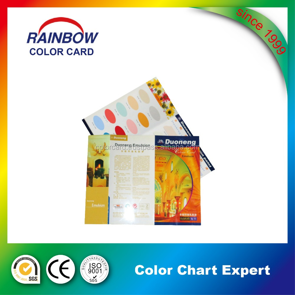 Customized color shade card