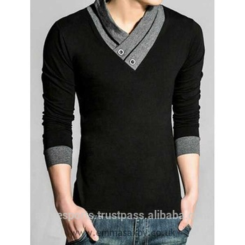 v neck t shirts - high quality skin tight men s deep long sleeve v neck t f6990c728604