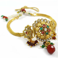 Indian Wedding Wear Jewellery Armlet Polki Upper Arm Bracelet Traditional Jewellery Gift For Her - ARM417