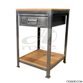 Metal Nightstands Wood Metal Bedside Table Metal Wooden Bedside