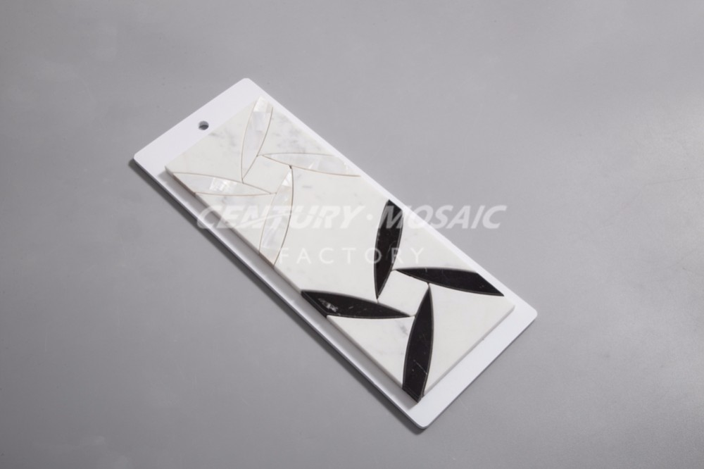 new arrival marble blend shell summer breeze water jet mosaic tiles
