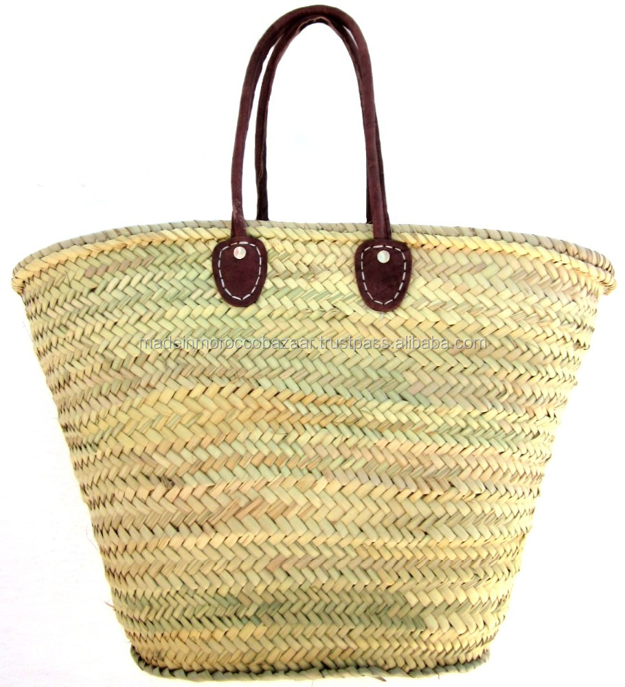 Natural Handmade French Market Straw Basket