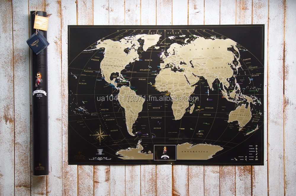 Premium Gift Travel Scratch World Map Poster Scratch Off Poste